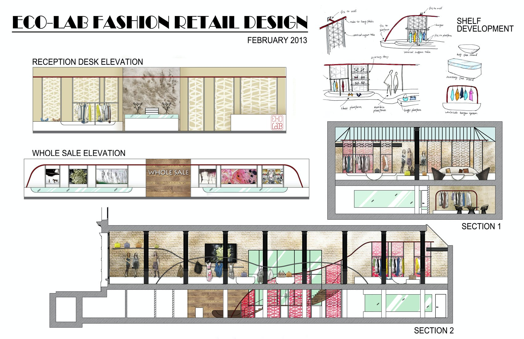Eco lab retail design yingru huang archinect for Interior design recruitment agency new york