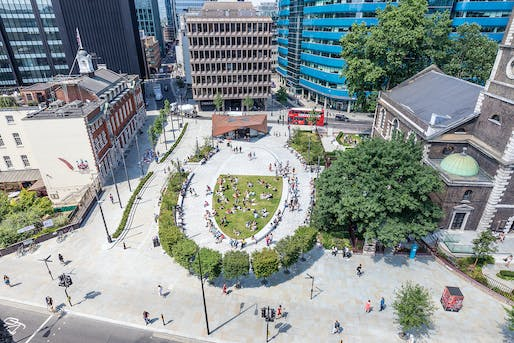 Wellbeing Prize: Aldgate Highway Changes and Public Realm Improvements Project, EC3 by City of London Corporation. Photo © John Sturrock