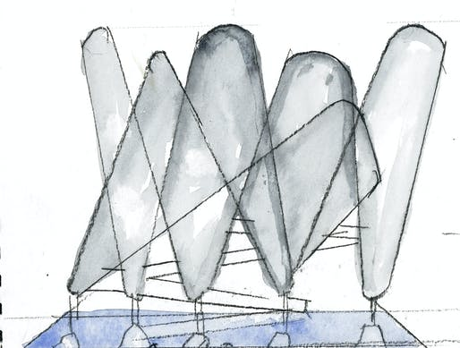 Watercolor Courtesy of Steven Holl.