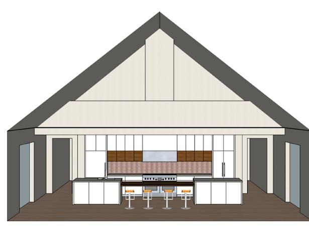 Kitchen elevation rendering