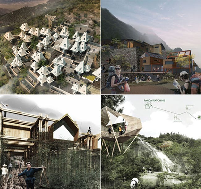 Winners of the AIM competition, 'Post Earthquake Reconstruction, Ya'an Sichuan-Rebuild Panda's hometown from the earthquake'. Image courtesy of AIM.