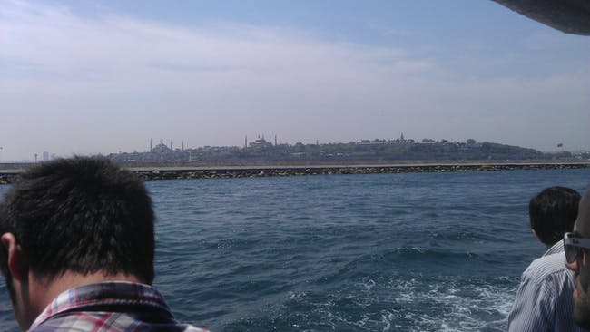 Crossing Bosphorous by ferry