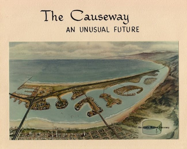 The 1965 proposed 'offshore freeway' in Santa Monica would have included manmade islands
