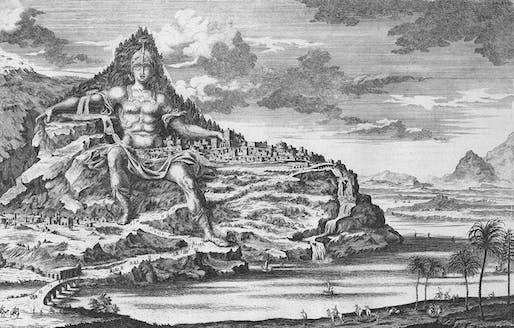 Dinocrates' proposal for Mount Athos