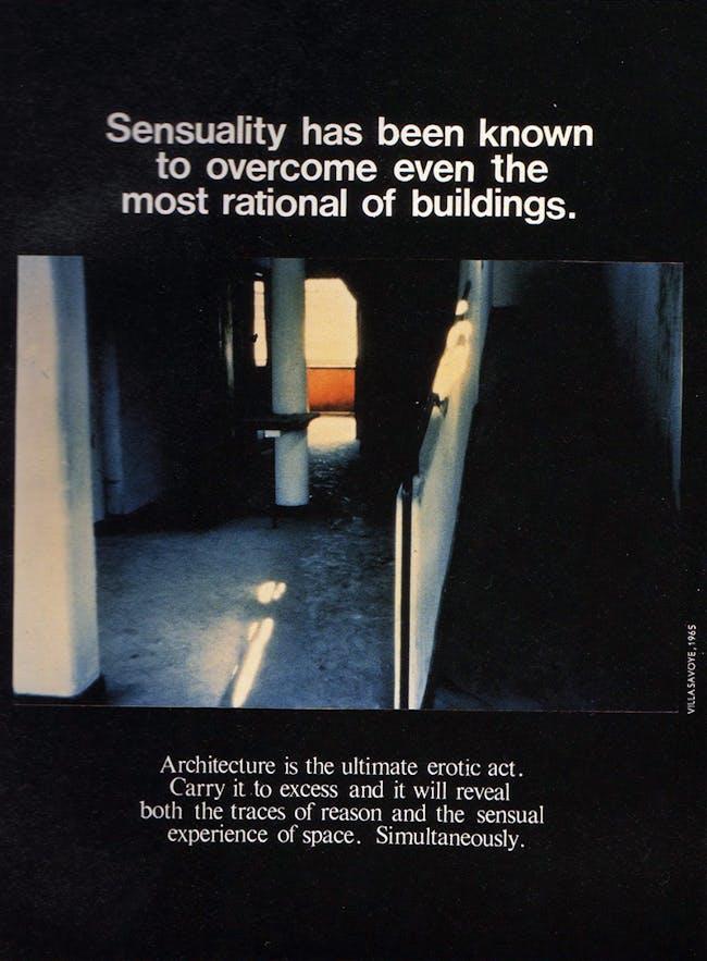 Bernard Tschumi's Advertisements for Architecture, 1976-1977