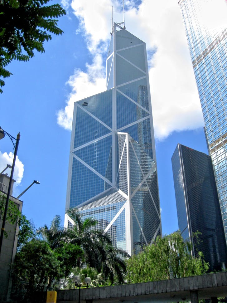 The Bank of China Tower by I.M. Pei. Image: Wikipedia.