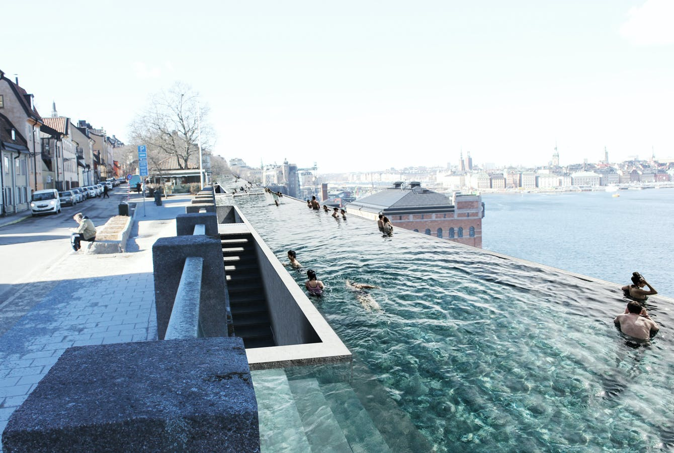 Uma Proposes A Kilometer Long Infinity Pool For Stockholm