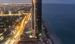 Check out the massive new car elevators inside the Porsche Design Tower in Miami