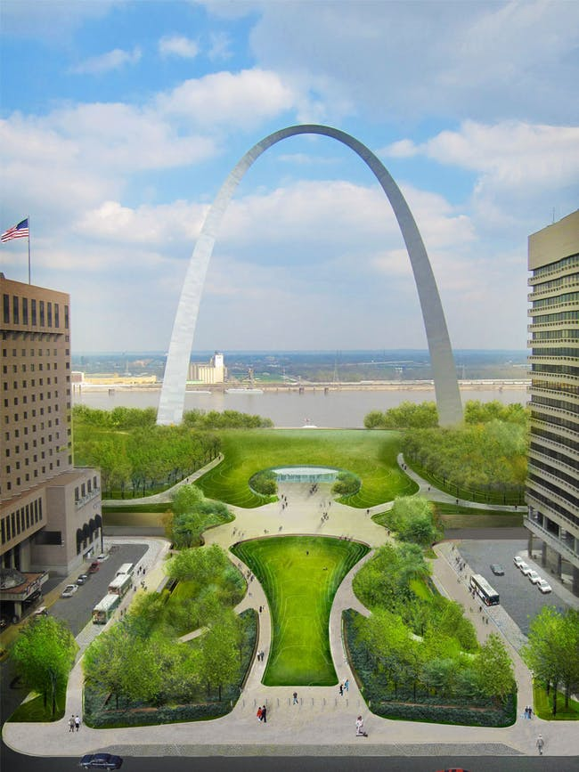 CityArchRiver's rendering of the Park Over the Highway by 2015. Photo courtesy of CityArchRiver