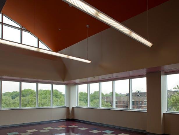 Children's Playroom with Panoramic City Views