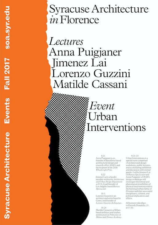 Poster courtesy of Syracuse Architecture in Florence.