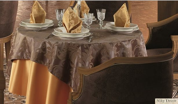 Interior restaurant restaurants with cotton tablecloths