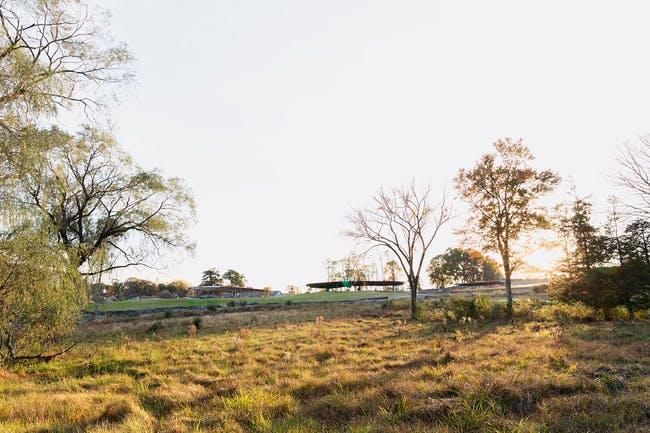 Under construction - The Grace Farms 'River' project by SANAA. Photo courtesy of Grace Farms. © Dean Kaufman, 2014