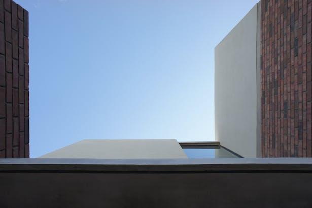 Concrete, glass and brick
