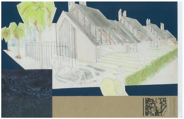 Beach Townhouses   Exterior Hand-Sketch