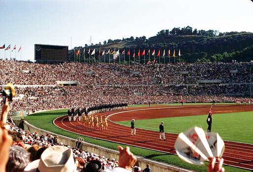 Not this time. Opening ceremony from Rome's 1960 Summer Olympics. Image via Wikipedia/flickr user Alex Dawson.