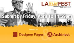 Only 4 more days to enter the LA Film Festival Design Competition! And we've got a new celebrity judge!