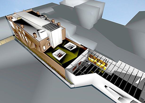 Digital rendering of The Green Building