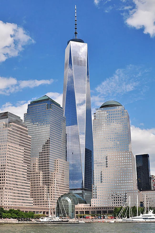 One World Trade Center on July 30, 2013 via Wikimedia Commons