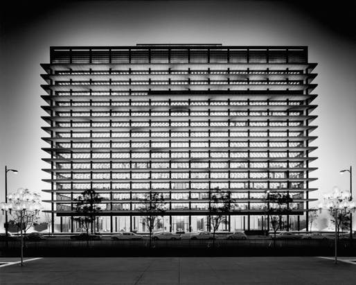 The Department of Water and Power Building in downtown LA, 1965. Image: waterandpowerassociates.com