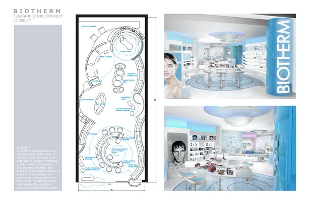 Flagship Store Concept for Renown Skincare Brand