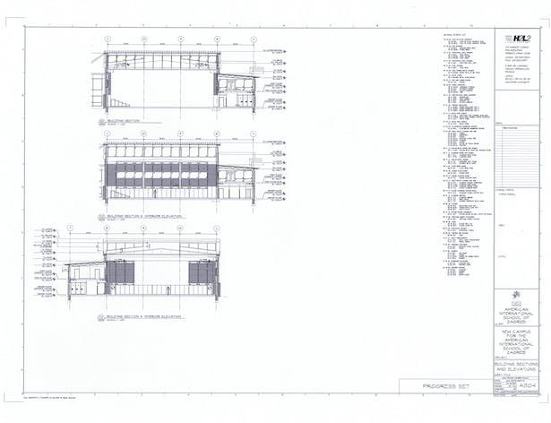 Sections and Interior Elevations