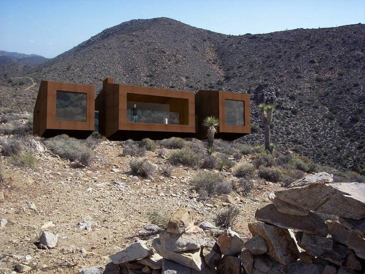 Modern Joshua Tree Desert House exterior. Courtesy of PMDD.