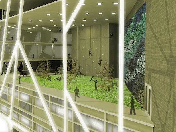 Interior of Green Floor