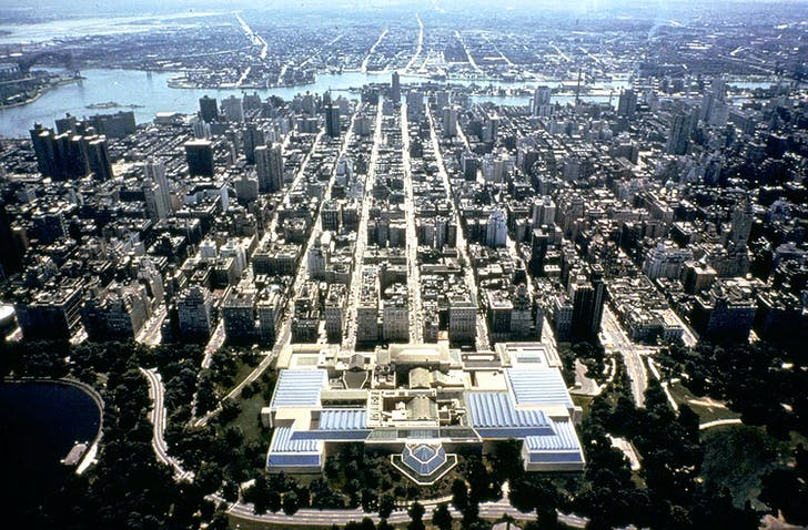 Metropolitan Museum of Art aerial. Courtesy of Kevin Roche John Dinkeloo and Associates LLC.