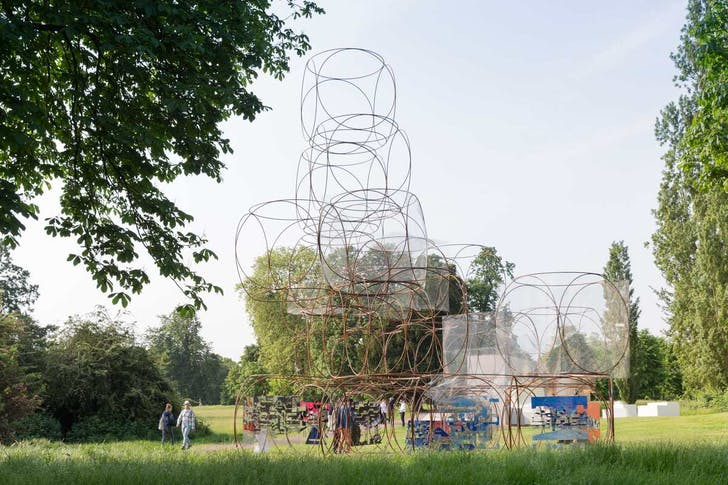 Serpentine Summer House 2016 designed by Yona Friedman; (10 June – 9 October); Photo © Iwan Baan