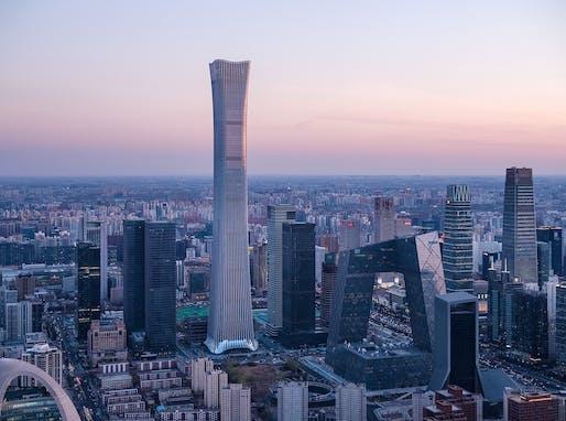 CITIC Tower in Beijing, China, designed by Kohn Pedersen Fox Associates (KPF), concept by TFP Farrells. Photo: HG Esch