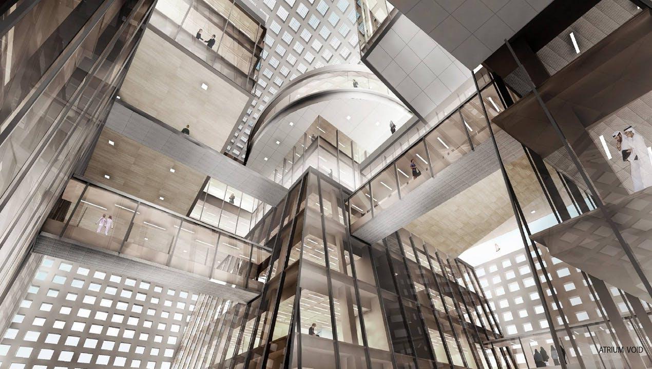 Qatar Foundation Headquarters Nasseer El Awar Archinect