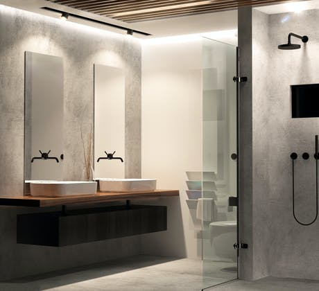 Bathroom in London city interior design