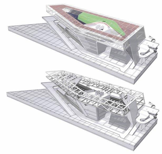(JET+CXT+Archasia) Kaoshiung Port Services Centre BIM Model