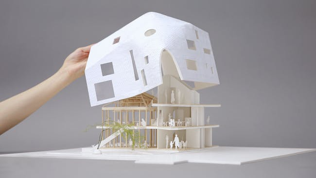 Clover House - Physical Model. Photo courtesy of MAD.