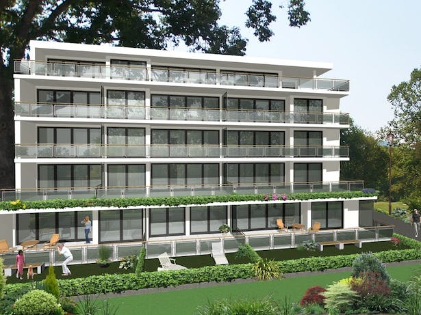 Conception for residential building in Switzerland - South elevation
