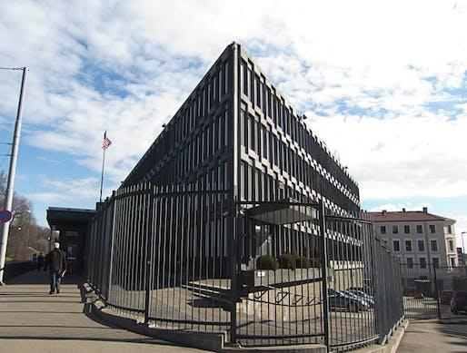 US Embassy in Oslo by Eero Saarinen in 1959