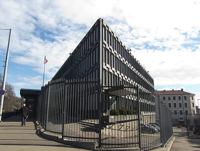 US Embassy in Oslo by Eero Saarinen in 1959