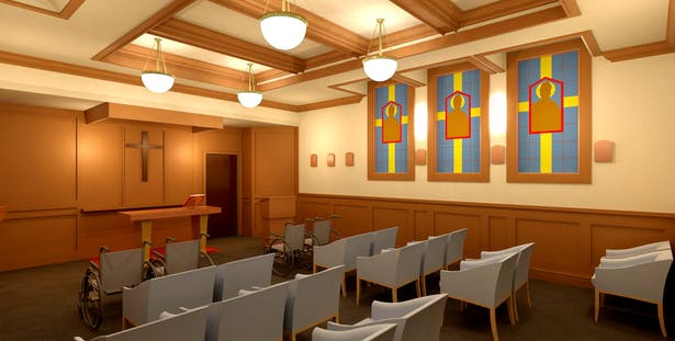 Chapel Interior Rendering