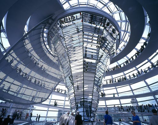 1999 - Reichstag, New German Parliament, Berlin, Germany. Photo credit: Foster + Partners.