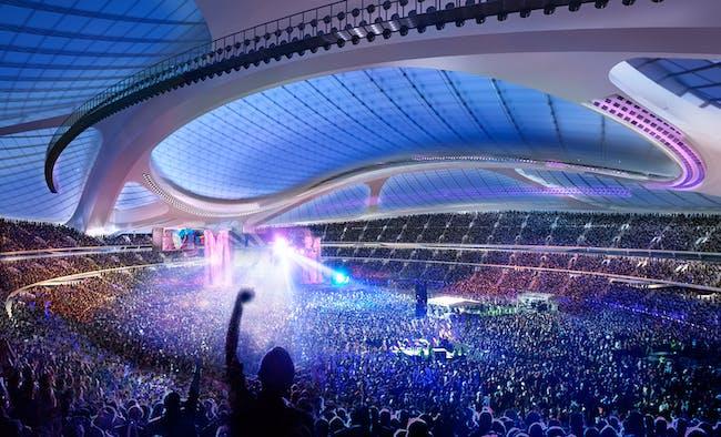 Concert. Render © Zaha Hadid Architects.