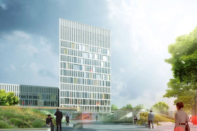 Winning design for the new Eurojust headquarters in The Hague by Mecanoo, in collaboration with Royal Haskoning and DS Landsacpe Architects (Image: Mecanoo / Royal Haskoning)
