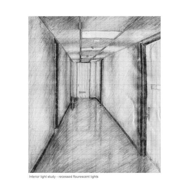 Hallway lighting sketch