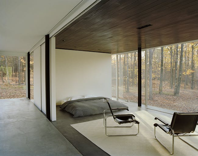 Binocular House in Ghent, NY by Michael Bell Architect; Photo: Bilyana Dimitrova Photography