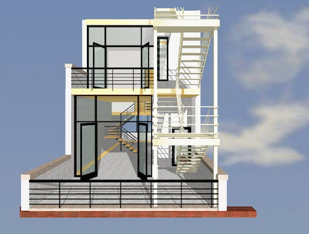 ELEVATION AT PRIVATE DECK