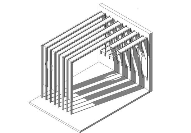 Computer model showing the screening element we designed