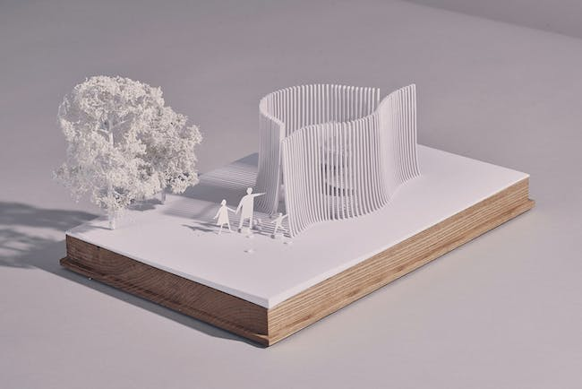 Serpentine Summer House 2016 designed by Asif Khan; Architectural model © Asif Khan
