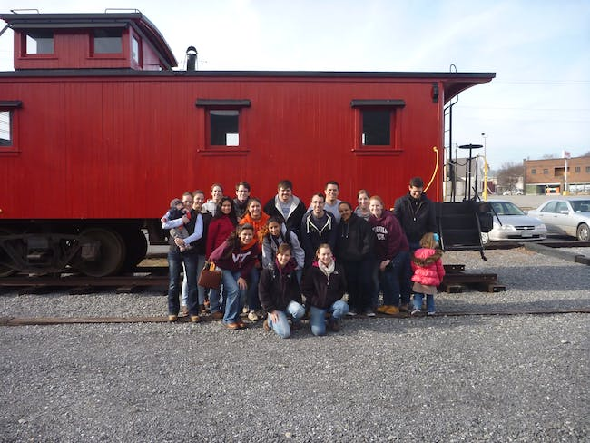 Group photo at the Railway Heritage Center!