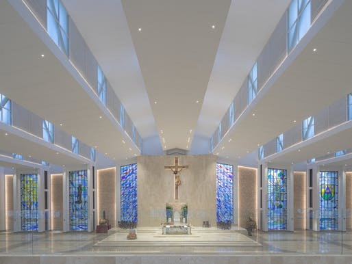 Stained Glass Windows for the Cathedral of Saint Eccehomo of Valledupar, Colombia by Daniel Castillo. Image courtesy CODAawards