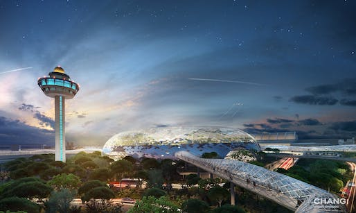 Rendering of the Jewel Changi Airport designed by Safdie Architects. Image via Wikipedia.